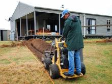 01 Pres Adrian Bond Cable trenching for BBQ Light 4.6.11