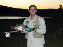 Adrian Bond with a Bass from Cania Dam