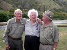 08 Founding members Dudley Lee & Bill Fisher with Marjorie Scott