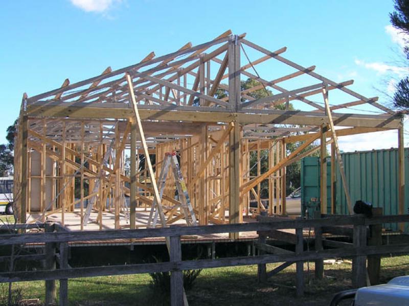 08 Roof Frame finished